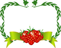 Strawberry Label Vector Royalty Free Stock Photos