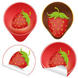 Strawberry labels Royalty Free Stock Images