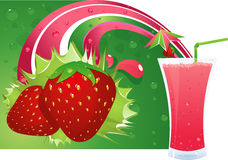Strawberry layout Stock Photography