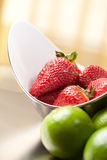 Strawberry and Lemon Stock Photography