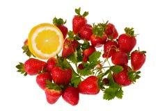 Strawberry and lemon Stock Image
