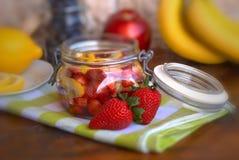Strawberry and lemon Stock Photo