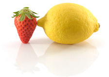 Strawberry and lemon abstract Stock Photo