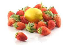 Strawberry and lemon Royalty Free Stock Image