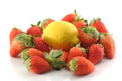 Strawberry and lemon Royalty Free Stock Photo