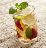 Strawberry Lemon Water Stock Images