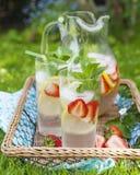 Strawberry lemonade. Stock Photography