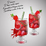 Strawberry lemonade Royalty Free Stock Images