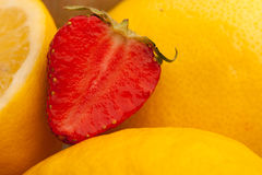 Strawberry with lemons Stock Photography