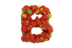 Strawberry letter B Stock Images