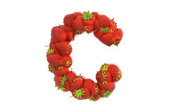 Strawberry letter C Royalty Free Stock Image
