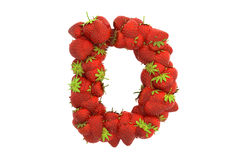 Strawberry letter D Royalty Free Stock Photos