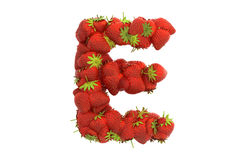 Strawberry letter E Stock Photos