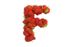 Strawberry letter F Stock Images