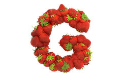 Strawberry letter G Stock Image