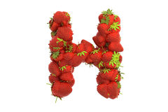 Strawberry letter H Stock Photography