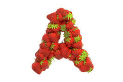 Strawberry letter A Royalty Free Stock Photography