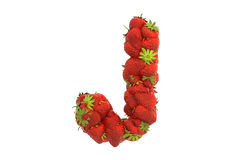 Strawberry letter J Royalty Free Stock Photo