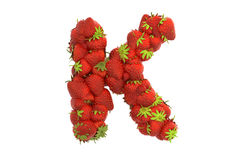 Strawberry letter K Royalty Free Stock Photography