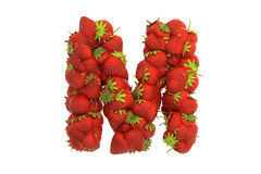 Strawberry letter M Stock Image