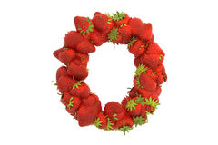 Strawberry letter O Stock Photography
