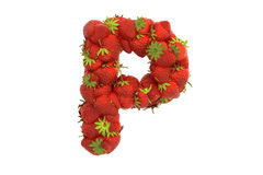 Strawberry letter P Stock Images