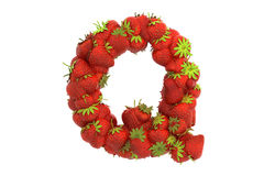 Strawberry letter Q Stock Images