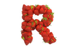 Strawberry letter R Royalty Free Stock Photo