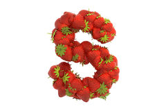 Strawberry letter S Stock Photography