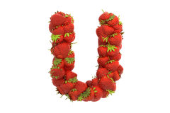 Strawberry letter U Royalty Free Stock Photos