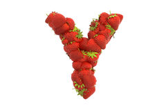 Strawberry letter Y Stock Images