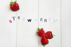 Strawberry Letters cut out from the Magazine Royalty Free Stock Photo