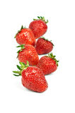 Strawberry lies in one row Royalty Free Stock Photos
