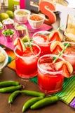 Strawberry margaritas Stock Photography