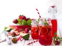 Strawberry,lime and rhubarb lemonade Stock Photography