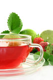 Strawberry-lime tea Stock Photography