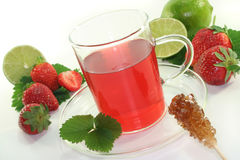 Strawberry lime tea Stock Images