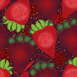 Strawberry line abstract seamless pattern Royalty Free Stock Image
