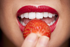 Strawberry Lips Stock Photography