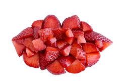 Strawberry Lips Stock Image
