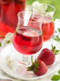 Strawberry liqour Royalty Free Stock Photo