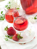 Strawberry liqour Royalty Free Stock Photos