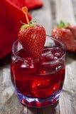 Strawberry liqueur royalty free stock photo