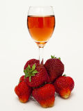 Strawberry liqueur Stock Photography