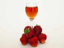 Strawberry liqueur Royalty Free Stock Images