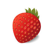 Strawberry looking fresh  on white background. With seeds looking realistic Royalty Free Stock Image