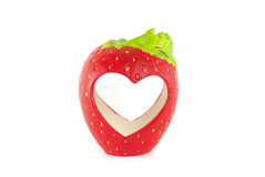 Strawberry for love. Strawberry berry for love. On a white background Royalty Free Stock Photo