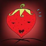 Strawberry love. Freehand Sketch Strawberry love, Valentine theme Royalty Free Stock Image