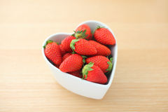 Strawberry with love Royalty Free Stock Photography