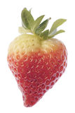Strawberry love heart. Fruit royalty free stock photo